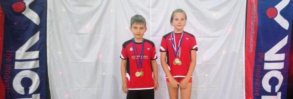Mladí badmintonisté přivezli medaile z Chorvatska.