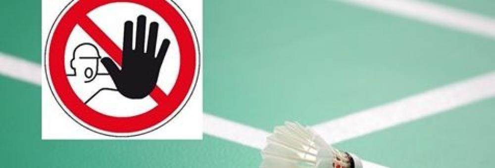 Český badmintonový svaz ruší všechny turnaje do 7.6.2020.