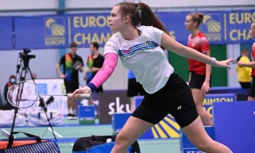 Kateřina Zuzáková ve čtvrtfinále Mistrovství Evropy juniorů.